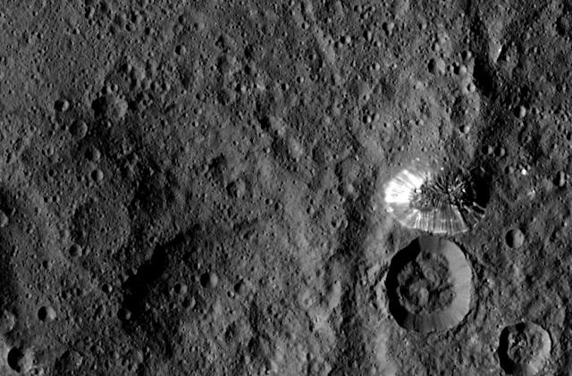 NASA's latest Ceres photo shows a strange, conical mountain