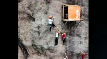 Convenience store opens 330ft-high on cliff face to serve climbers