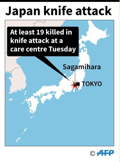 Japan knife attack (AFP Photo/John SAEKI)
