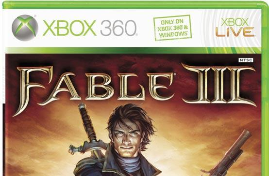 Fable 3 box art crowned with 'Windows' label