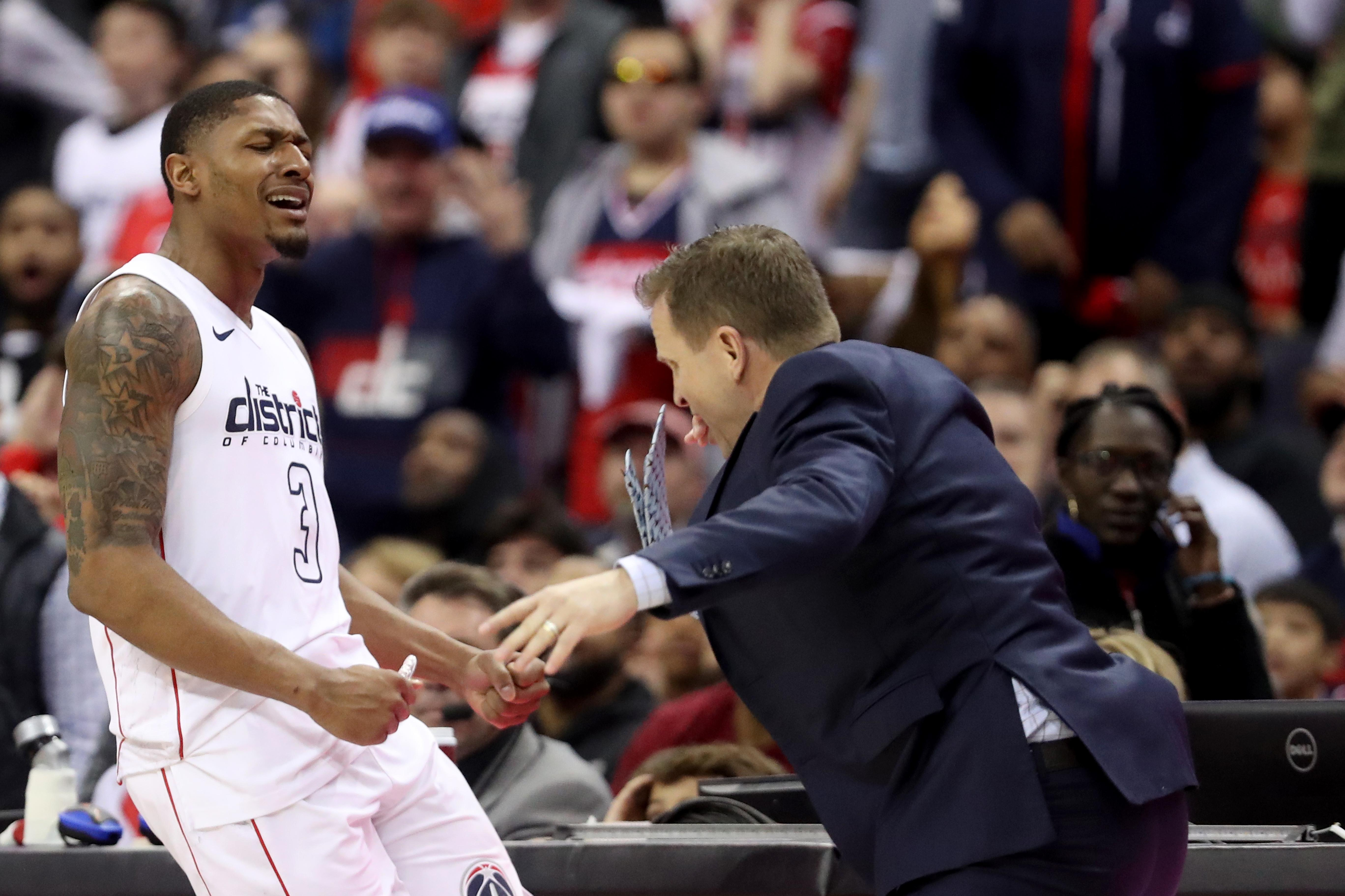 Bradley Beal lost it after fouling out of Game 4 on a controversial call