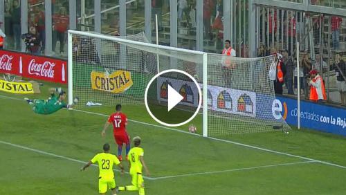 VIDEO: El gol de Rincón que Cunha no dio en Chile - Venezuela