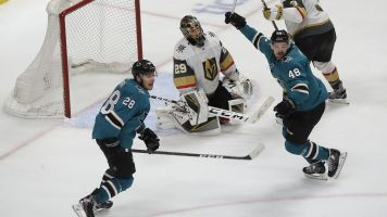 Sharks steal Game 7 after controversial penalty