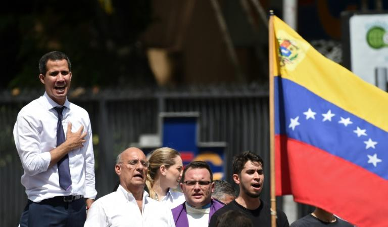 Venezuelan opposition leader Juan Guido implored supporters who had gathered in the streets of Caracas on July 5 not to give up hope (AFP Photo/YURI CORTEZ )