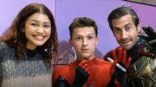 Watch Spider-Manstars Jake Gyllenhaal, Tom Holland, and Zendaya surprise kids at children's hospital