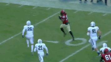 Harvard loses TD after RB gives foe the finger