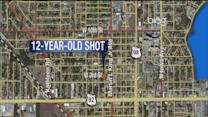 12-year-old shot on porch in drive-by
