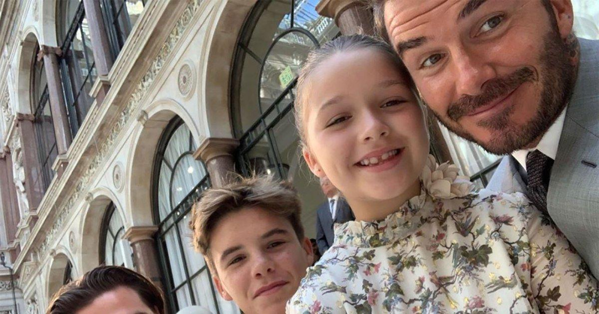 David Beckham Shares Behind The Scenes Moments Of Kids At Wife Victoria S London Fashion Show