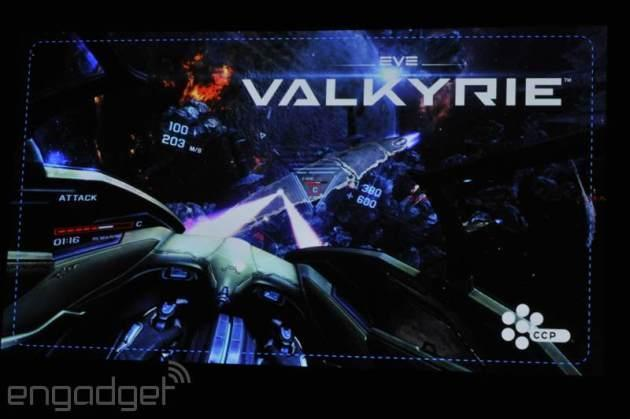 Sony's new VR headset being shown at GDC 2014 with playable demos of EVE Valkyrie, Thief