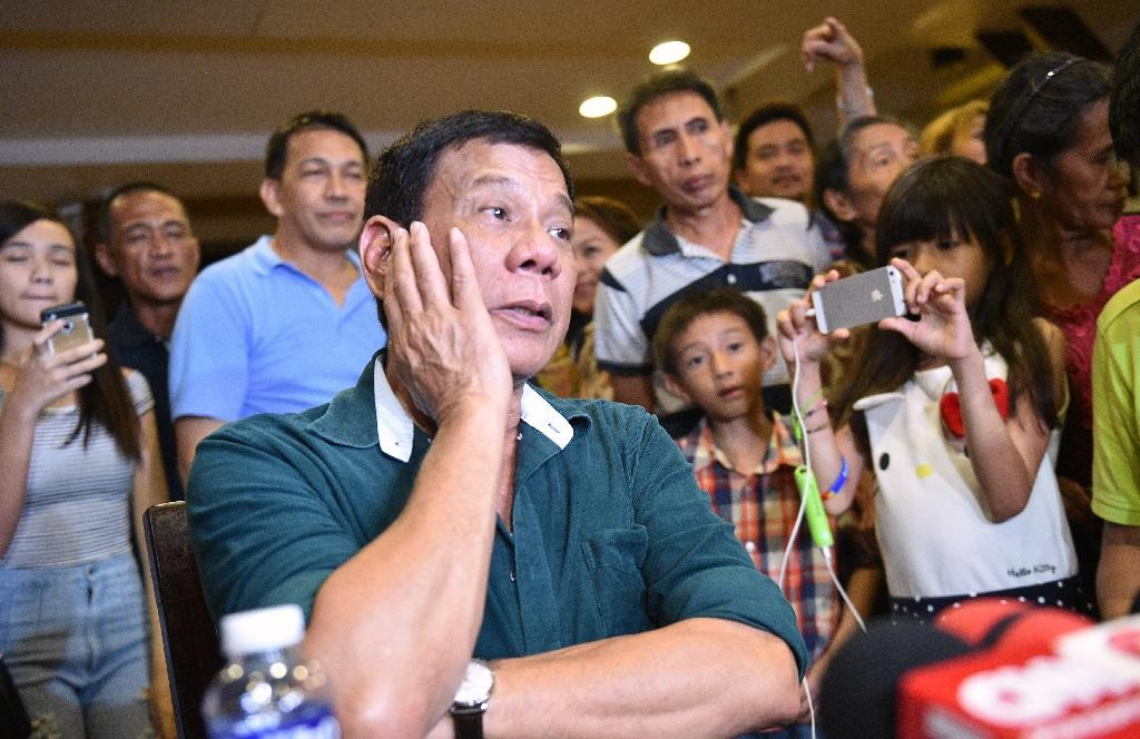 Philippines' President-elect Rodrigo Duterte reneged on a pledge to personally apologize for insulting Pope Francis (AFP Photo/Ted Aljibe)