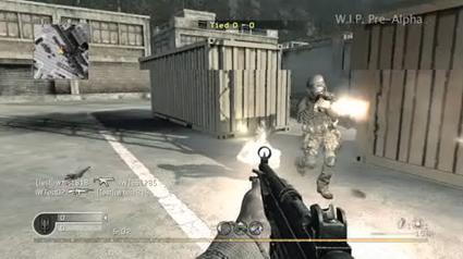 Today's most pre-alpha video: Call of Duty 4 multiplayer