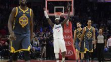 Kevin Durant, Draymond Green fight over ball as Steph Curry-less Warriors lose to Clippers