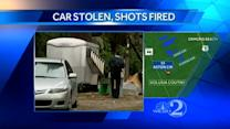 Shots fired during car theft incident