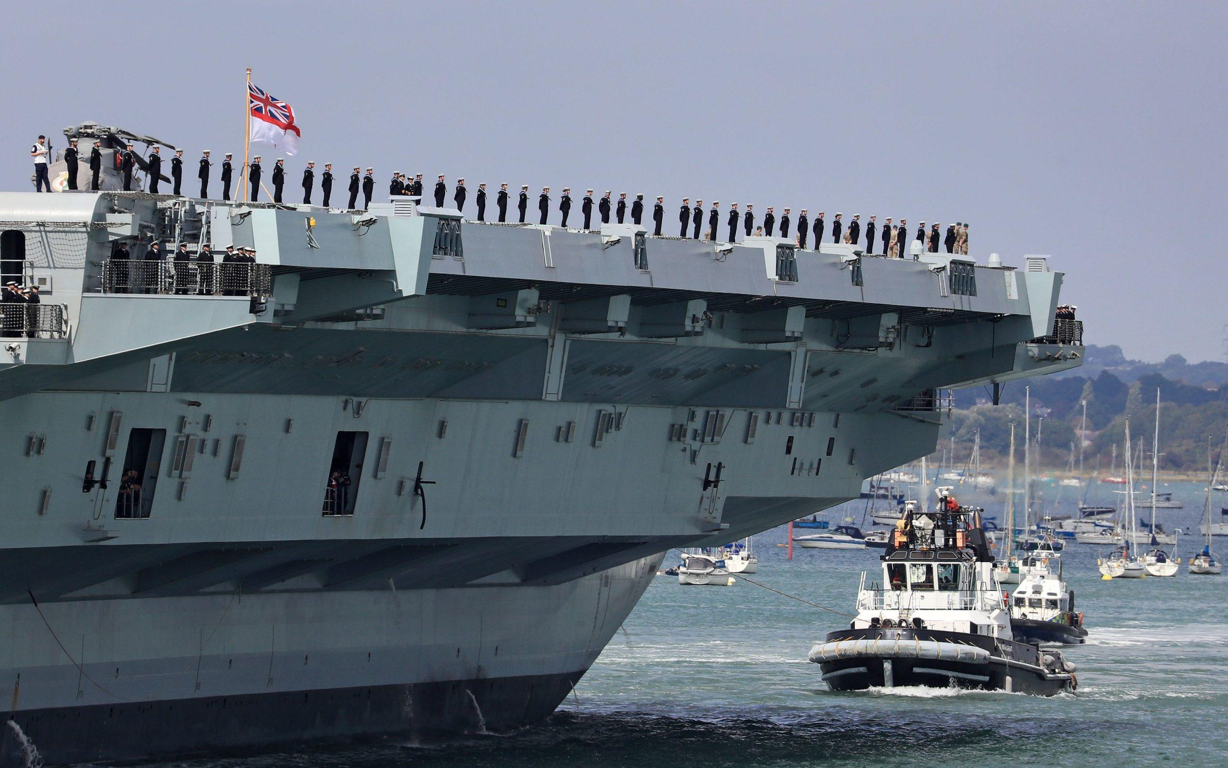China warns the UK could be committing 'hostile action' if it sends carrier into territory