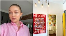 Gigi Hadid enseña en Instagram la decoración de su apartamento neoyorquino