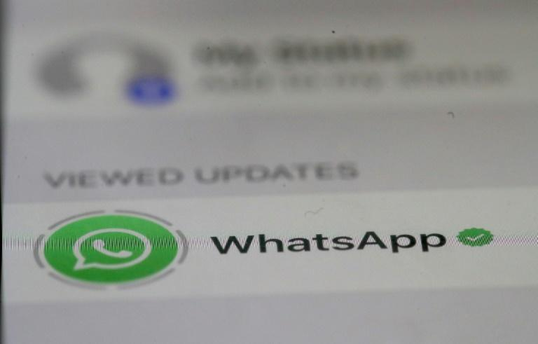 Individuals were alerted by WhatsApp last year that their mobile phones had been targeted with spying technology (AFP Photo/JUSTIN SULLIVAN)