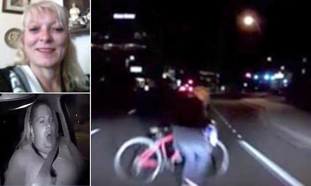 49歲的Elaine Herzberg在亞利桑那州坦佩以北公路上騎著自行車,被車速40 英里/小時的Volvo XC90 Uber撞到不幸當場死亡。(圖片來源:https://www.w3livenews.com/News/ReadArticle)