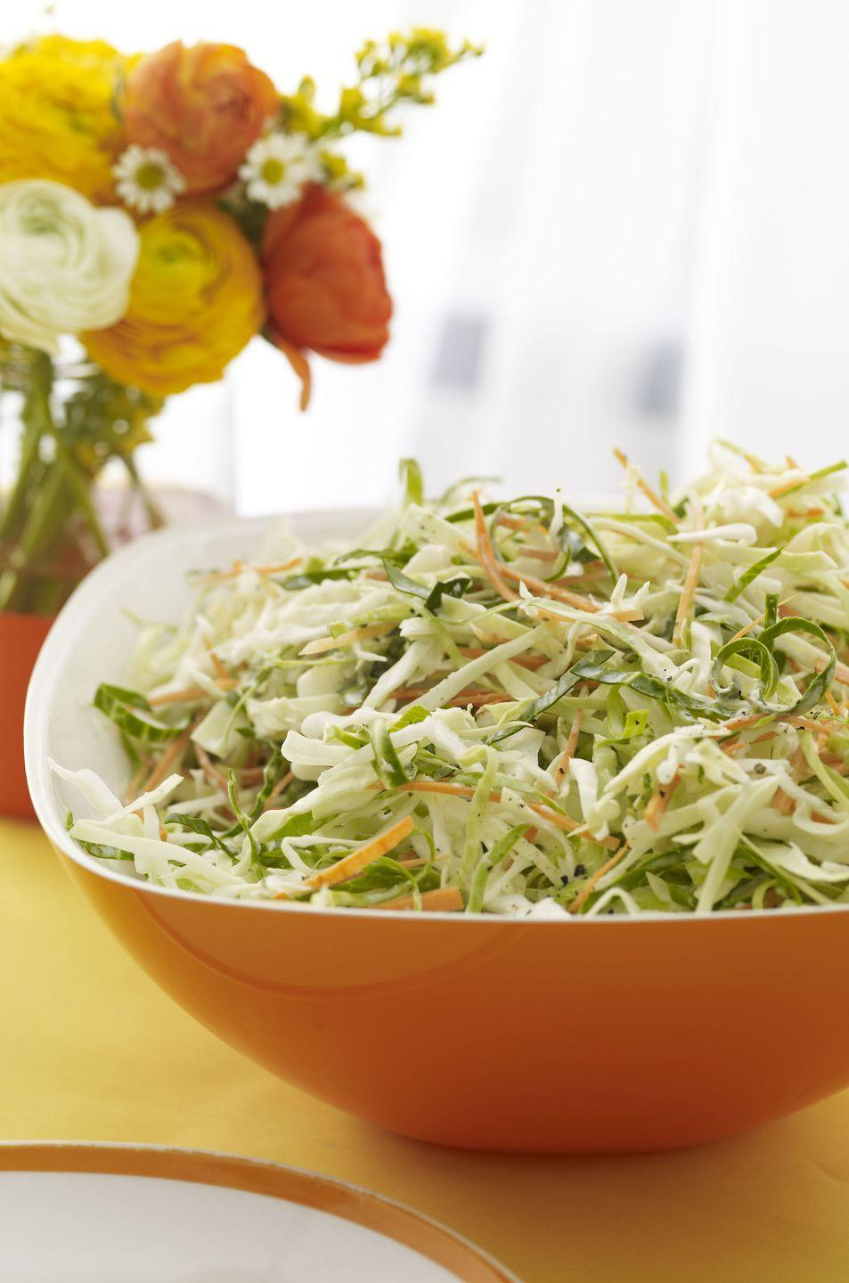 "<p>You can refrigerate this recipe up to one day before eating. (But don't forget to mix it up before serving!)</p><p><strong><a href=""https://www.womansday.com/food-recipes/food-drinks/recipes/a12165/creamy-horseradish-cabbage-carrot-slaw-recipe-wdy0712/"" rel=""nofollow noopener"" target=""_blank"" data-ylk=""slk:Get the recipe"" class=""link rapid-noclick-resp"">Get the recipe</a>. </strong></p>"