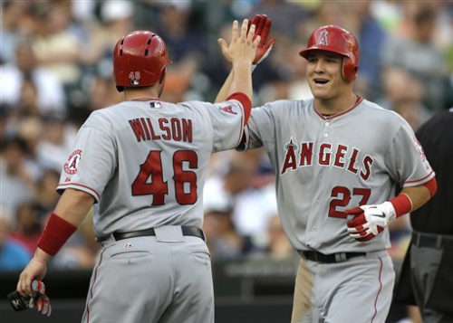 Trout with 4 hits leads Angels 13-0 rout of Tigers