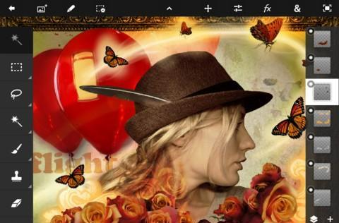 Adobe unveils Photoshop Touch for iPad 2 at MWC, slate-style photo editing for $10