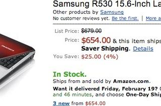 Samsung R430 / R540 laptops now partying stateside