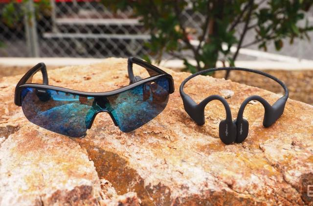 OptiShokz built bone conduction audio sunglasses