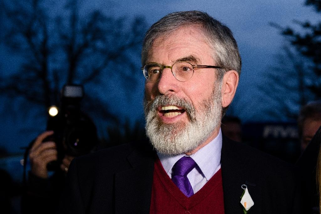 """Irish Sinn Fein leader Gerry Adams is criticised after using a racial slur on Twitter where he appeared to link a former slave's struggle against slave-owners in the film """"Django Unchained"""" and a Catholic area of Belfast, Ballymurphy"""