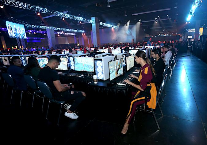 ANAHEIM, CALIFORNIA - NOVEMBER 01: Angela Sarafyan plays World of Warcraft: Shadowlands at BlizzCon 2019 at the Anaheim Convention Center in Anaheim, CA on Nov. 1, 2019.  (Photo by Phillip Faraone/Getty Images for Blizzard Entertainment)