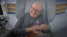"This ""ICU Grandpa"" Cradles Babies, Comforts Parent"