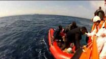 Spanish Coast Guards Rescue Migrants in Straits of Gibraltar
