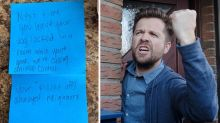 Man divides opinions after slamming neighbour's angry note