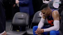 Russell Westbrook left dejected and stunned after the Magic hand the Thunder another loss