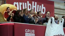 Grubhub falls 40% in its worst trading day, eliciting a laugh on its earnings call