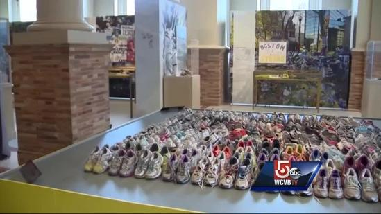 Items from Copley Square marathon memorial on display