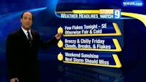 Breezy, chilly Friday in store