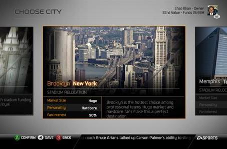 Madden 25 will let you move to 17 different cities, revive historic teams