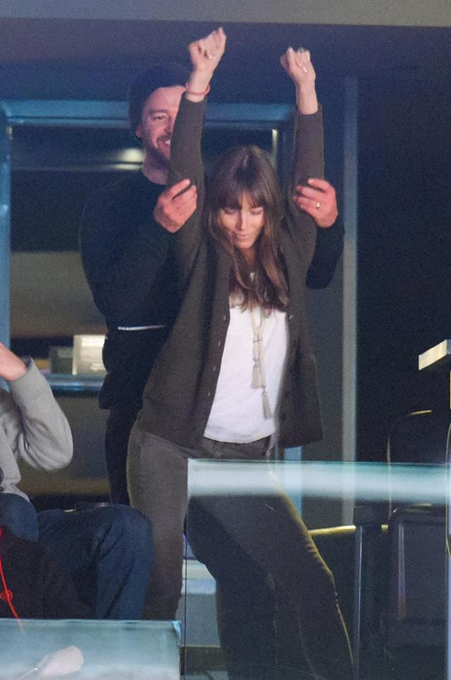Jessica Biel 'Can't Stop the Feeling' as She Dances Against Justin Timberlake at NBA Game