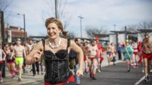 Joggers in bras, panties, briefs raise money for sick kids