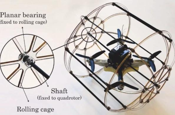 HyTAQ hybrid quadrotor robot travels by air and land, leaves us no place to hide (video)
