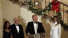 Melania Trump is her own winter wonderland in Céline at Congressional Ball