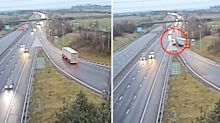 Truck driver jailed for 'disgraceful' move on busy highway
