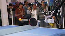 OMRON's redesigned ping pong robot no longer holds back