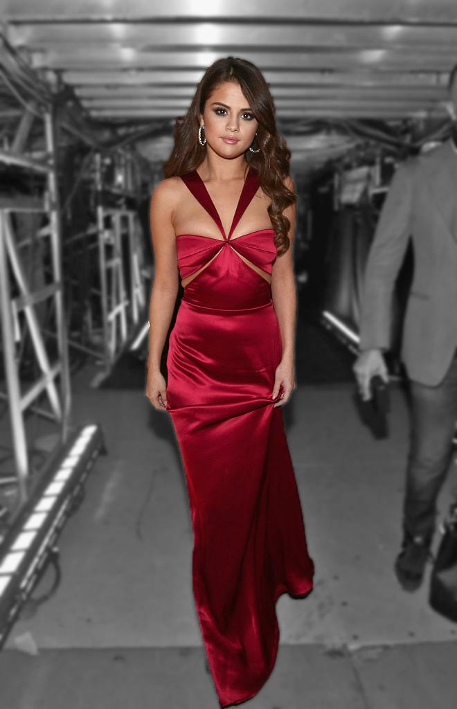 Selena Gomez In Red Dress