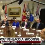 President Trump comments on Pensacola shooting, surging job numbers