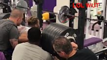 LSU's Derrius Guice can squat 650 pounds, and this is not a drill