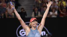 Maria Sharapova's comeback tour continues with win over defending Australian Open champion Caroline Wozniacki