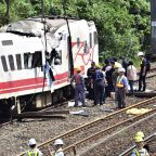 Rescuers search site after train crash killed 18 in Taiwan