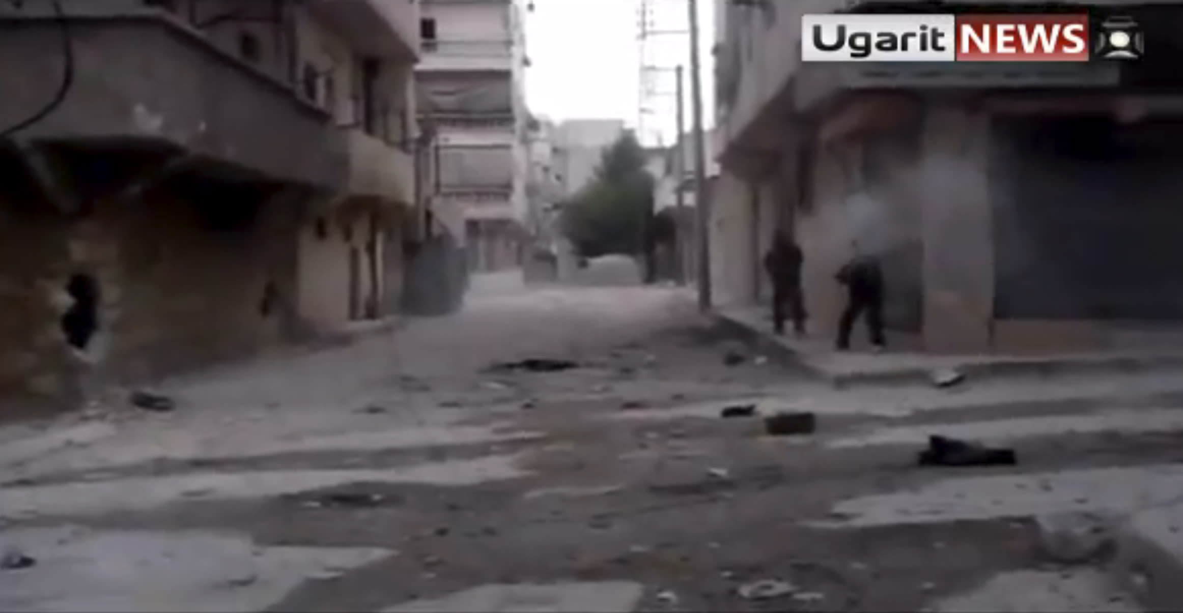 This image made from video provided by Ugarit and accessed via AP video purports to show Syrian rebels clashing with Syrian forces in Aleppo, Syria, Friday, Aug. 31, 2012. Syrian rebels have begun a major operation in the Aleppo region, aiming to strike at security compounds and bases around Syria's largest city, activists said Friday. It would be evidence that weeks of intense bombardments by the Syrian military, including airstrikes, have failed to dislodge the rebels. Instead, fighting rages across the country in a 17-month civil war that shows no sign of ending soon. (AP Photo/Ugarit via AP video) THE ASSOCIATED PRESS HAS NO WAY OF INDEPENDENTLY VERIFYING THE CONTENT, LOCATION OR DATE OF THIS PICTURE