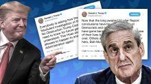 On Mueller, Trump tries to tweet his cake and eat it too