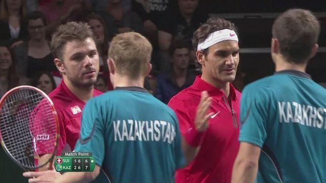 Federer and Wawrinka stunned by Kazakhstan pair